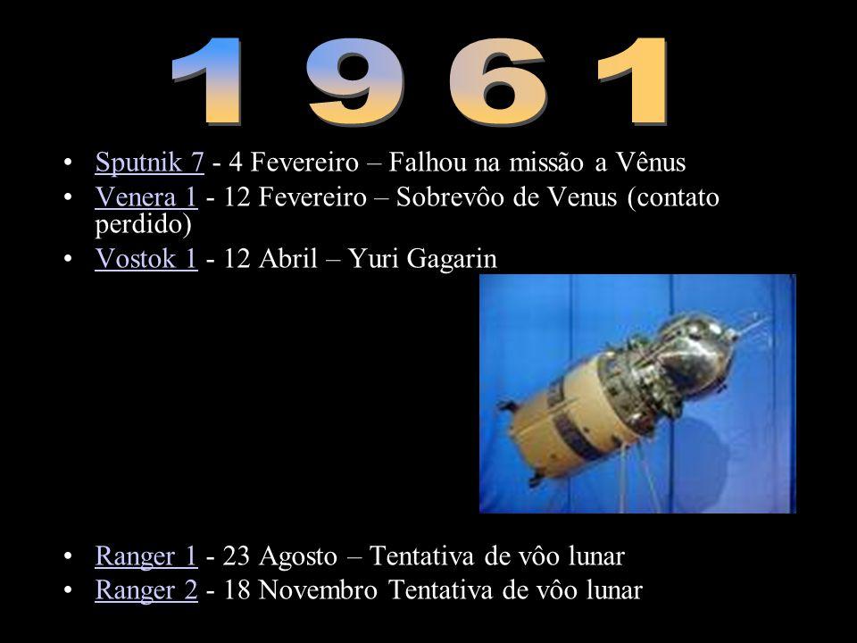1961 Sputnik 7 - 4 Fevereiro – Falhou na missão a Vênus