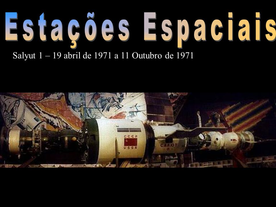 Estações Espaciais Salyut 1 – 19 abril de 1971 a 11 Outubro de 1971
