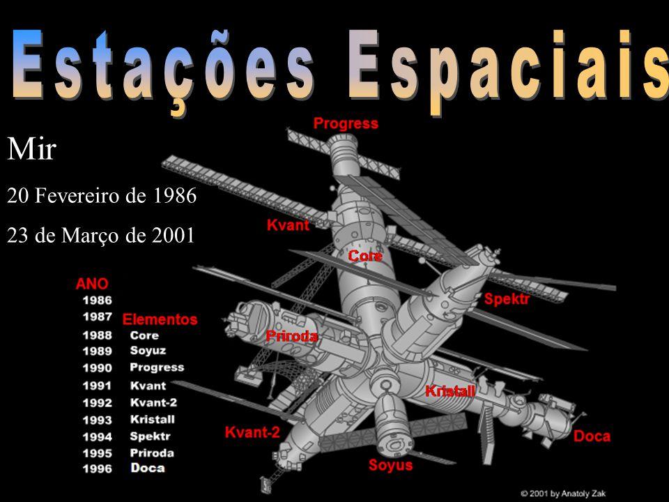 Estações Espaciais Mir 20 Fevereiro de 1986 23 de Março de 2001