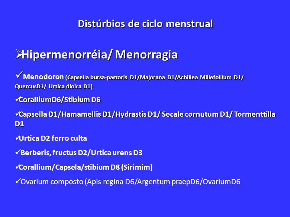 Distúrbios de ciclo menstrual