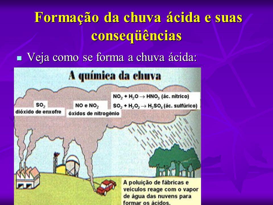 Formação da chuva ácida e suas conseqüências