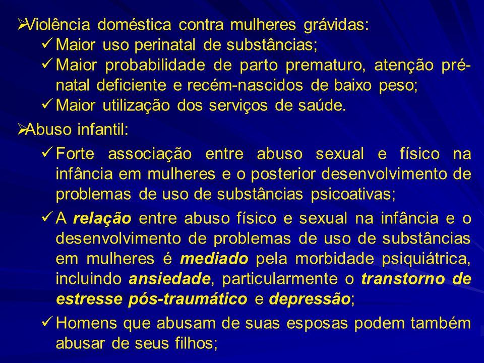Violência doméstica contra mulheres grávidas:
