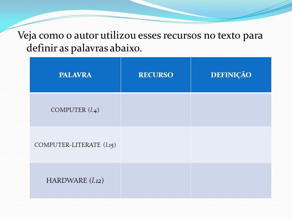 COMPUTER-LITERATE (l.15)