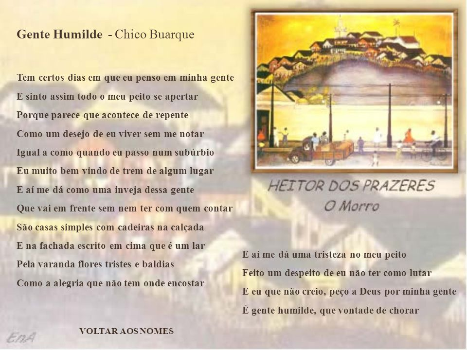 Gente Humilde - Chico Buarque