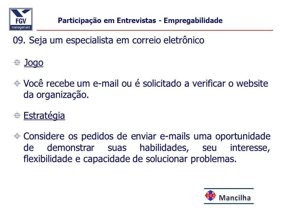 09. Seja um especialista em correio eletrônico  Jogo