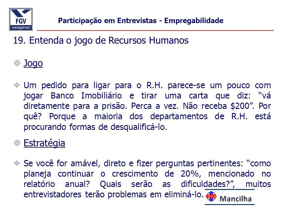 19. Entenda o jogo de Recursos Humanos Jogo