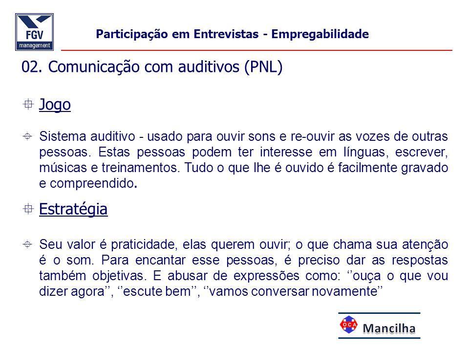 02. Comunicação com auditivos (PNL) Jogo