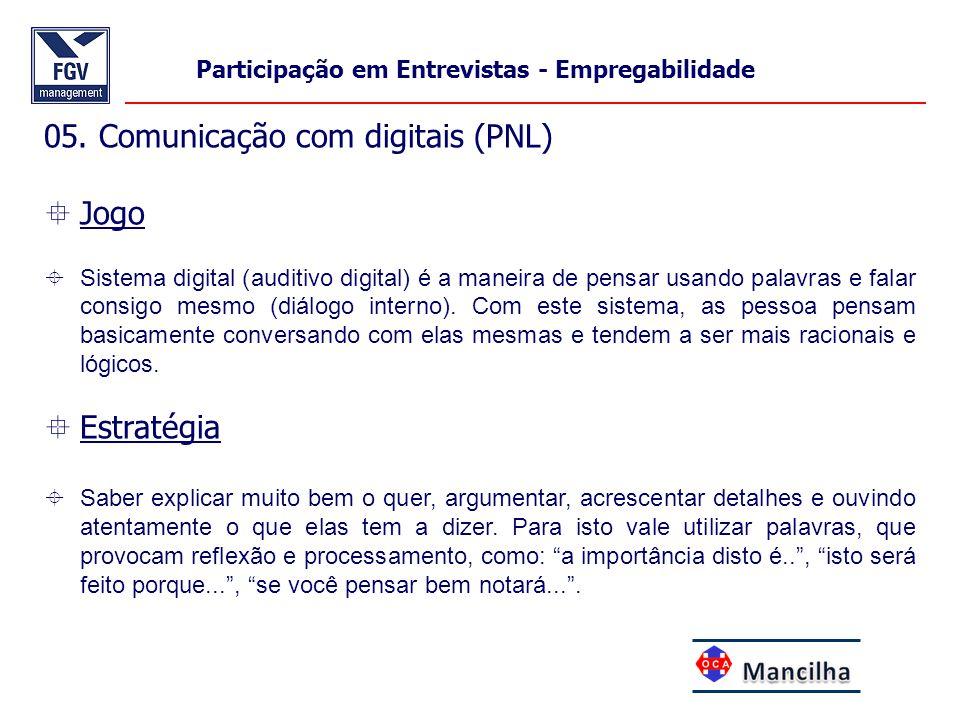 05. Comunicação com digitais (PNL) Jogo