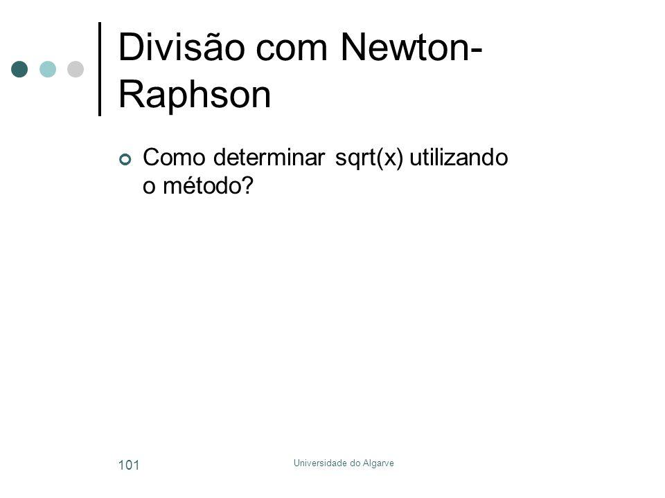 Divisão com Newton-Raphson
