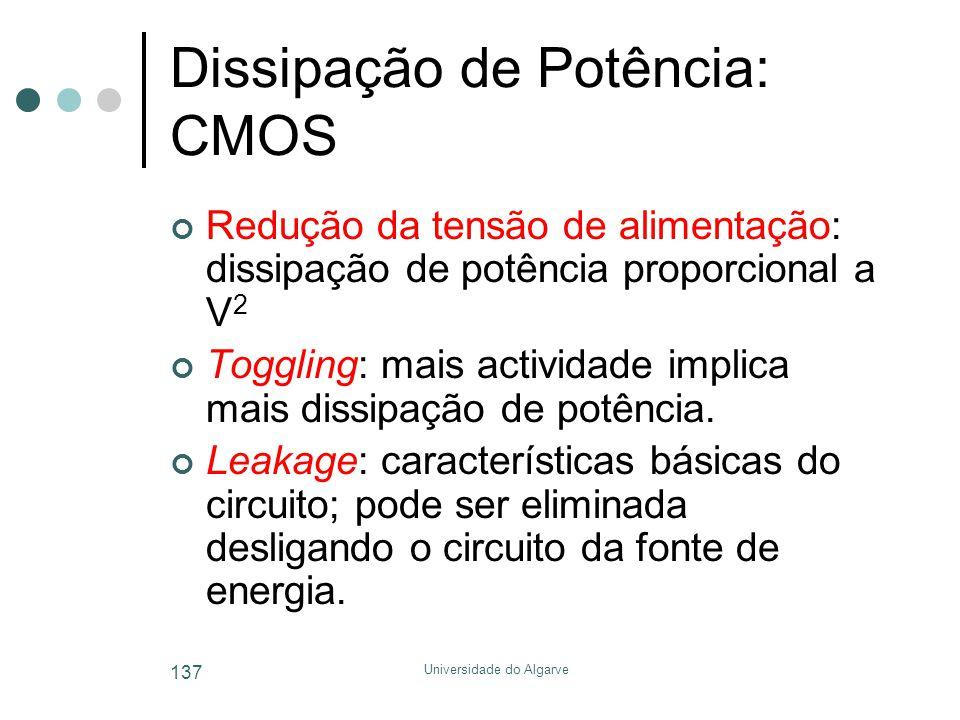 Dissipação de Potência: CMOS