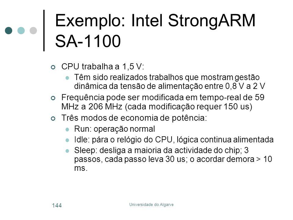 Exemplo: Intel StrongARM SA-1100