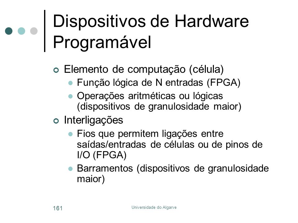Dispositivos de Hardware Programável