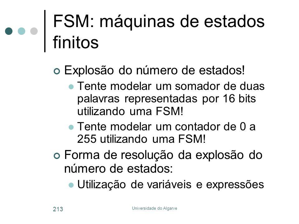 FSM: máquinas de estados finitos