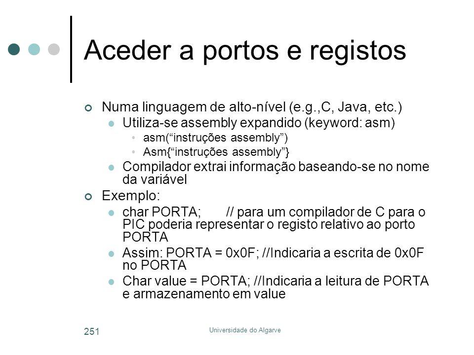 Aceder a portos e registos