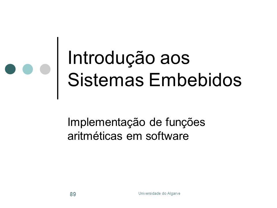 Introdução aos Sistemas Embebidos
