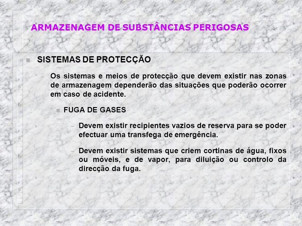 ARMAZENAGEM DE SUBSTÂNCIAS PERIGOSAS