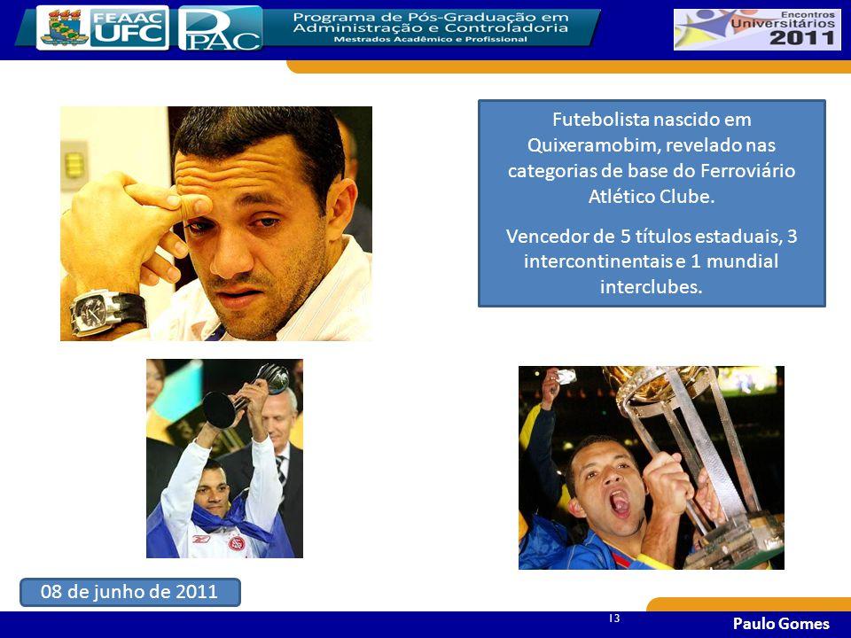 Futebolista nascido em Quixeramobim, revelado nas categorias de base do Ferroviário Atlético Clube.