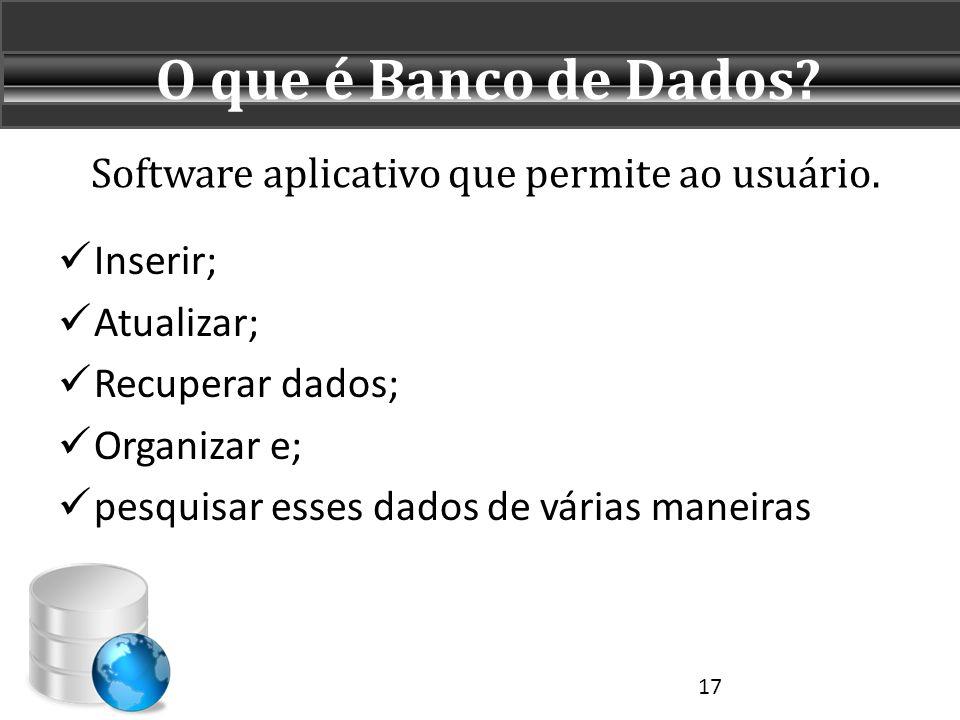 Software aplicativo que permite ao usuário.