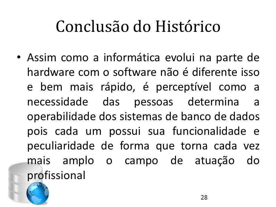 Conclusão do Histórico