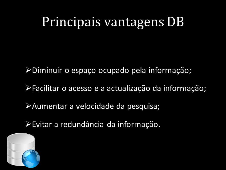 Principais vantagens DB