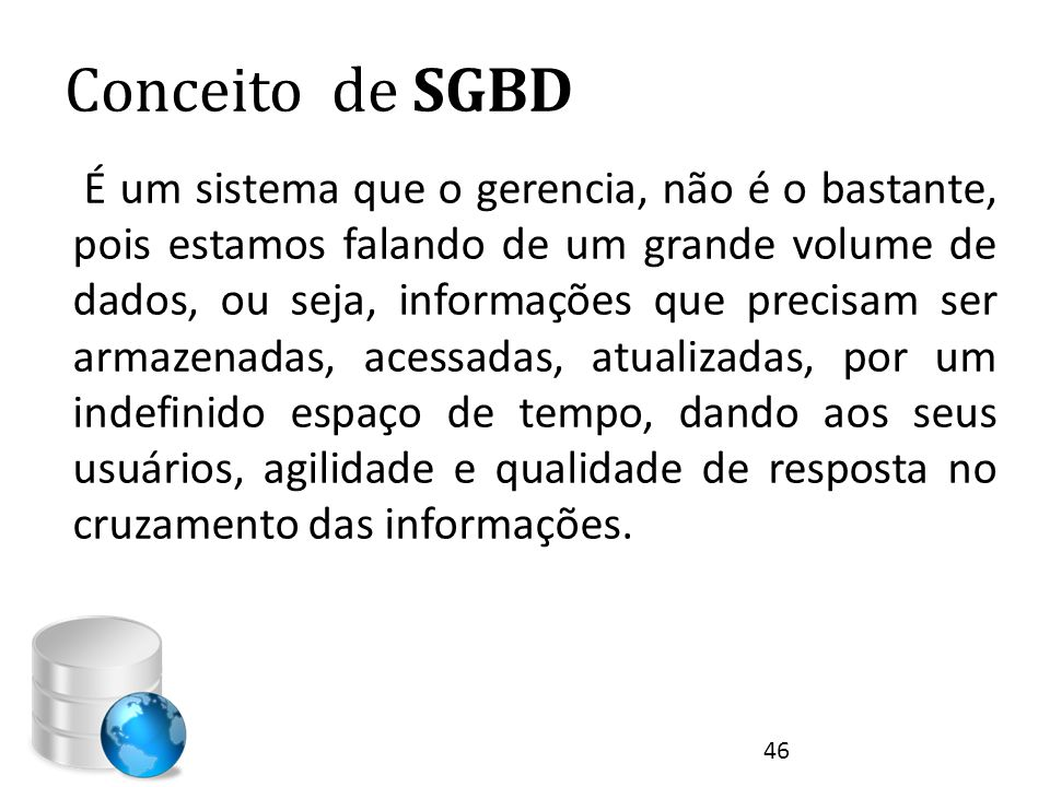 Conceito de SGBD