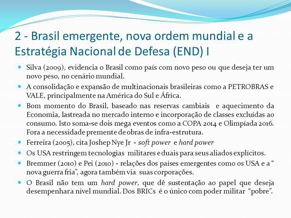 2 - Brasil emergente, nova ordem mundial e a Estratégia Nacional de Defesa (END) I