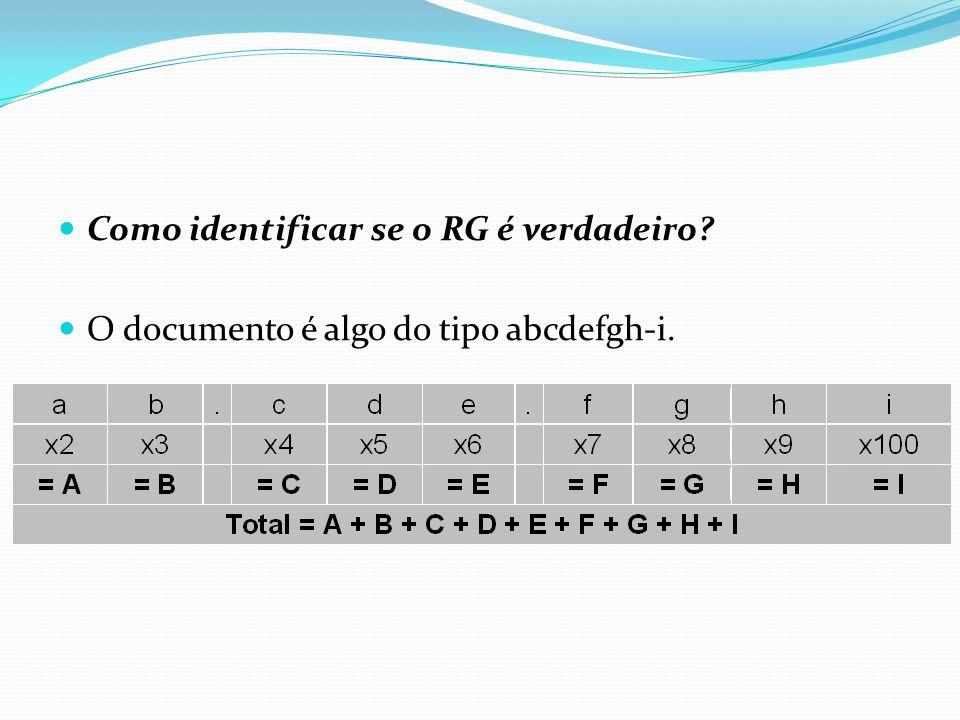 Como identificar se o RG é verdadeiro