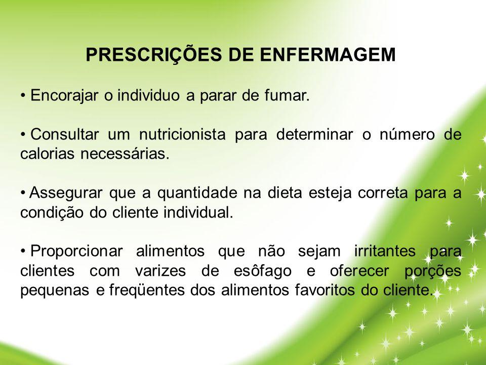 PRESCRIÇÕES DE ENFERMAGEM