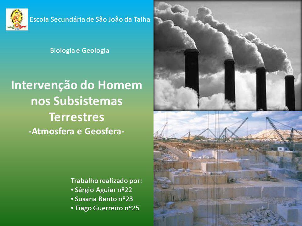 Intervenção do Homem nos Subsistemas Terrestres -Atmosfera e Geosfera-