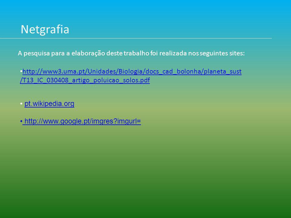 Netgrafia A pesquisa para a elaboração deste trabalho foi realizada nos seguintes sites:
