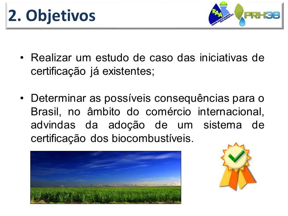 2. Objetivos Realizar um estudo de caso das iniciativas de certificação já existentes;