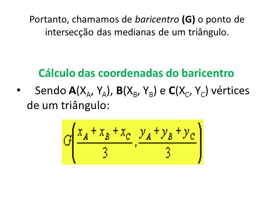 Cálculo das coordenadas do baricentro