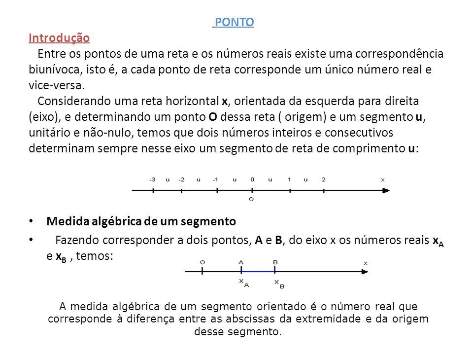 Medida algébrica de um segmento