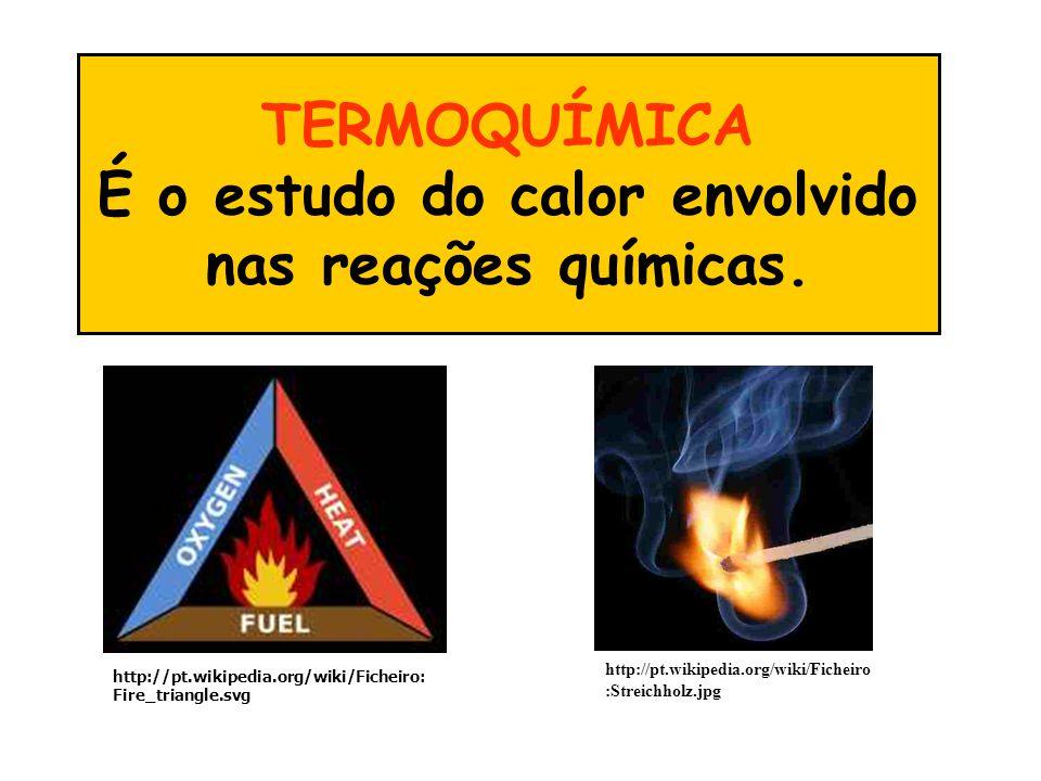 TERMOQUÍMICA É o estudo do calor envolvido nas reações químicas.