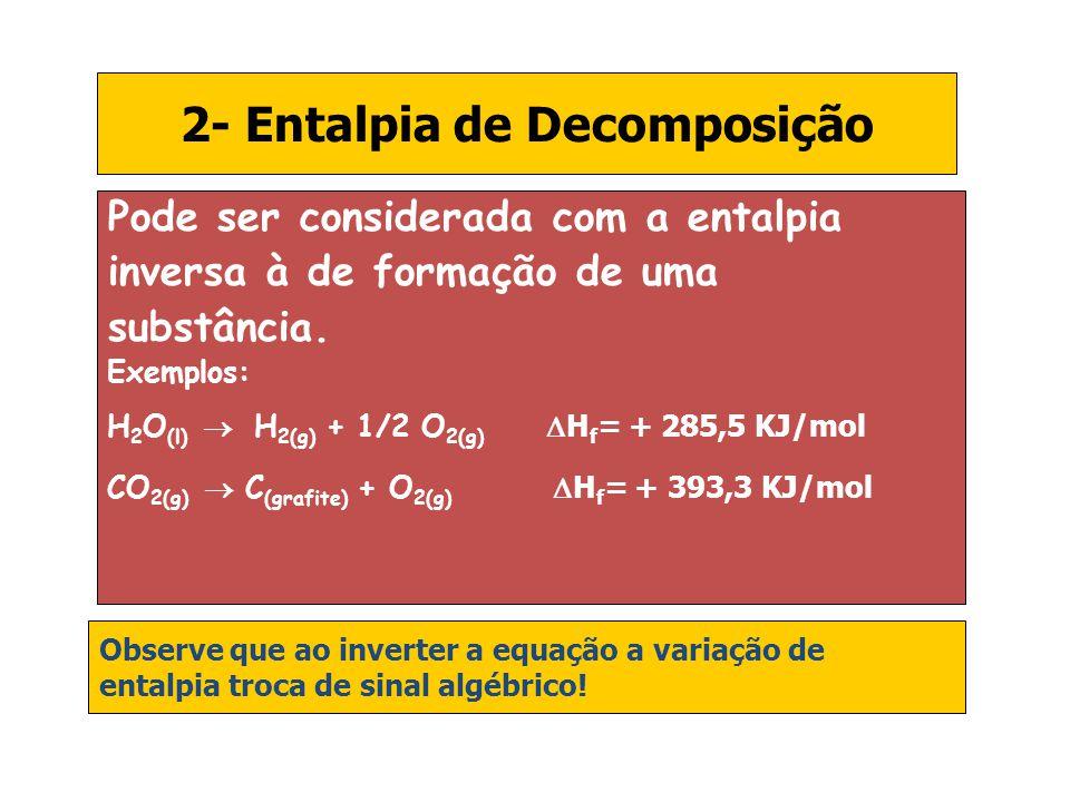 2- Entalpia de Decomposição