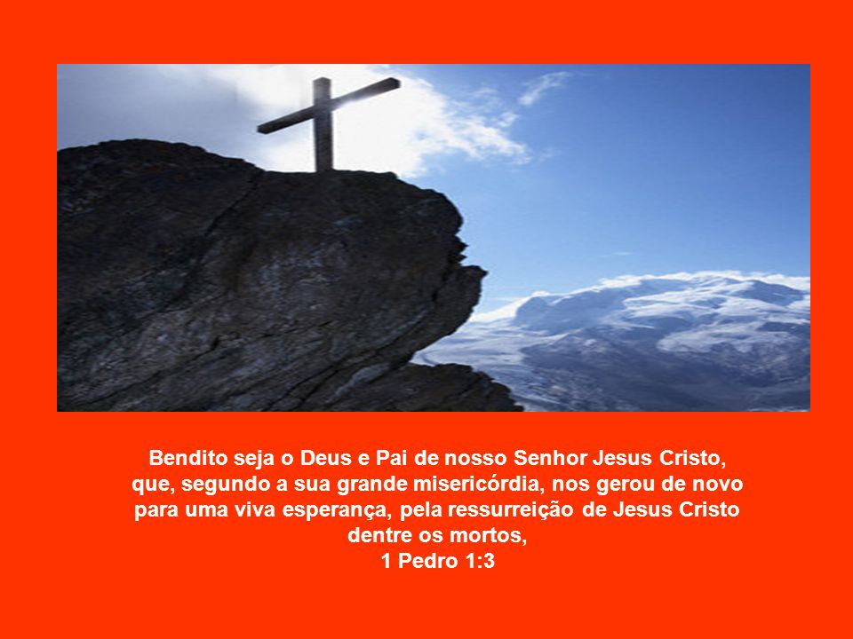 Bendito seja o Deus e Pai de nosso Senhor Jesus Cristo, que, segundo a sua grande misericórdia, nos gerou de novo para uma viva esperança, pela ressurreição de Jesus Cristo dentre os mortos, 1 Pedro 1:3