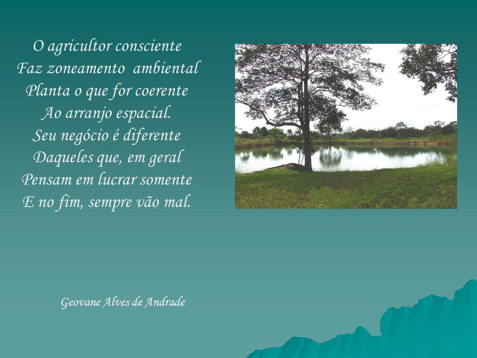 O agricultor consciente Faz zoneamento ambiental