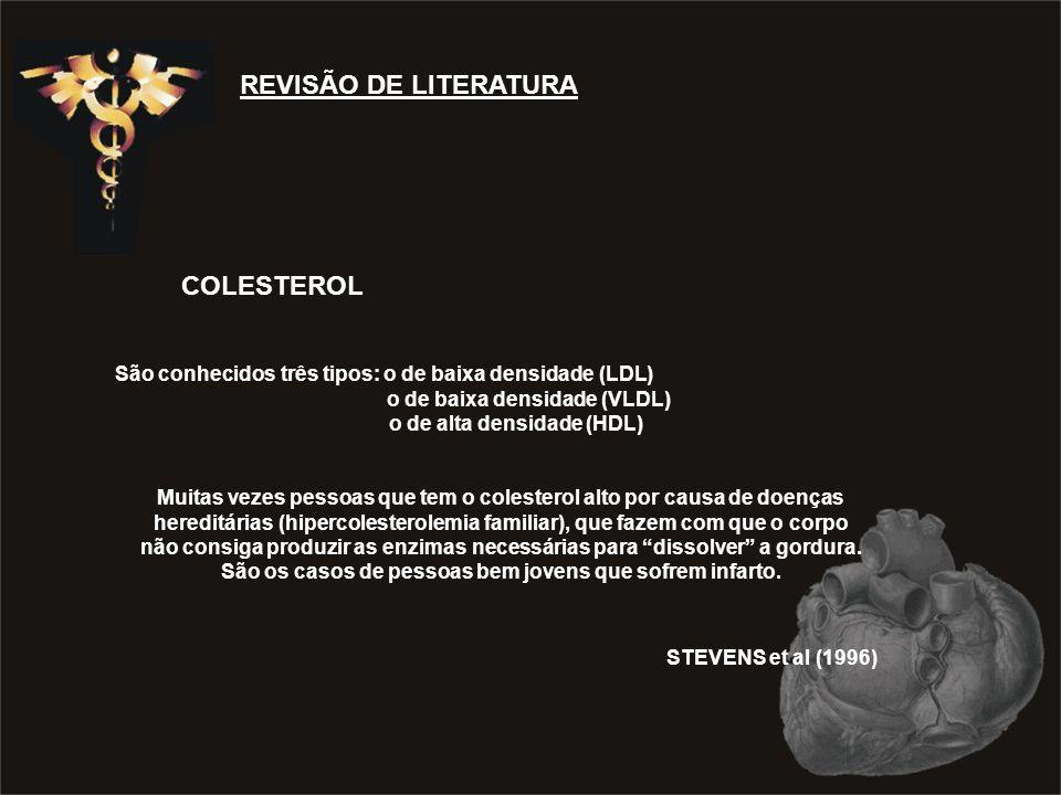 REVISÃO DE LITERATURA COLESTEROL