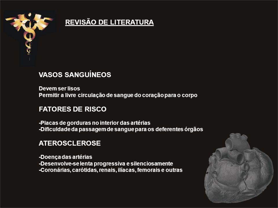 REVISÃO DE LITERATURA VASOS SANGUÍNEOS FATORES DE RISCO ATEROSCLEROSE