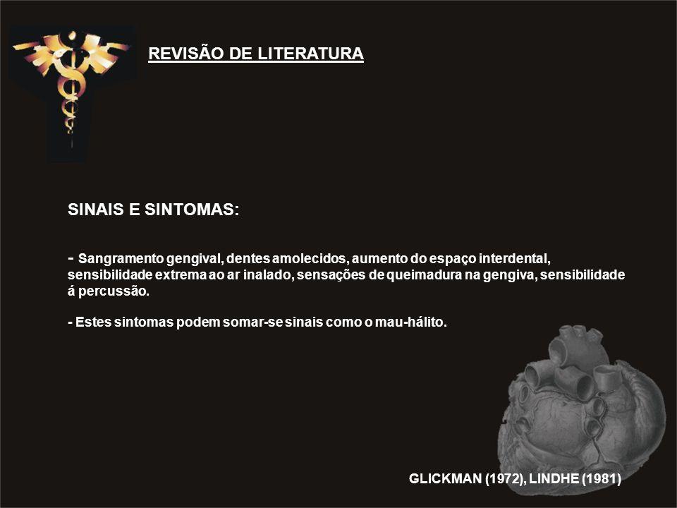REVISÃO DE LITERATURA SINAIS E SINTOMAS: