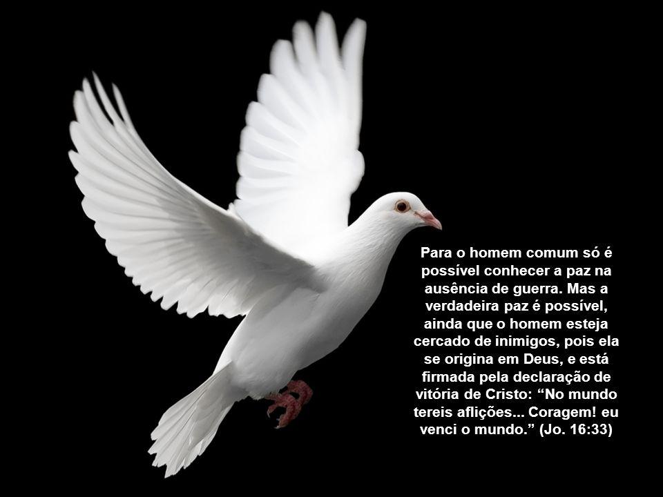 Para o homem comum só é possível conhecer a paz na ausência de guerra