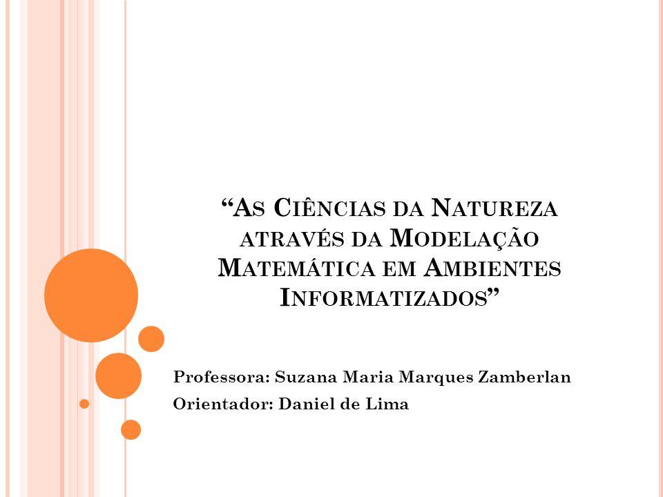 Professora: Suzana Maria Marques Zamberlan Orientador: Daniel de Lima