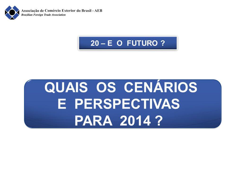 QUAIS OS CENÁRIOS E PERSPECTIVAS PARA 2014