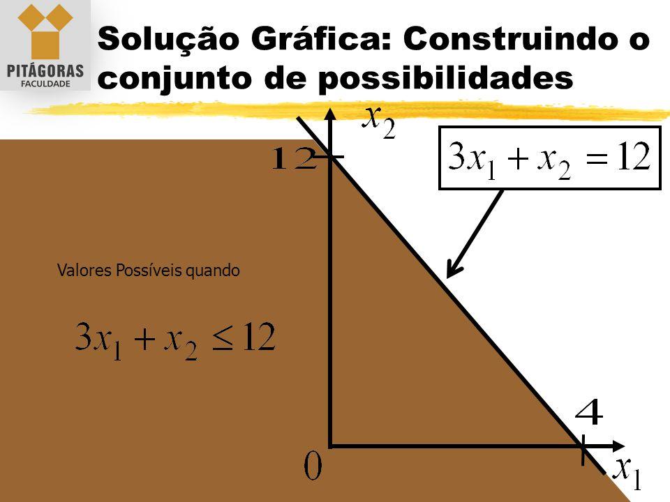 Solução Gráfica: Construindo o conjunto de possibilidades