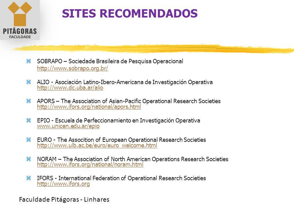 SITES RECOMENDADOS Faculdade Pitágoras - Linhares
