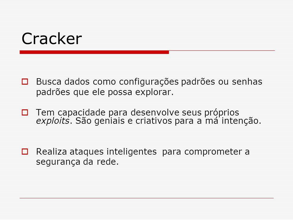 Cracker Busca dados como configurações padrões ou senhas