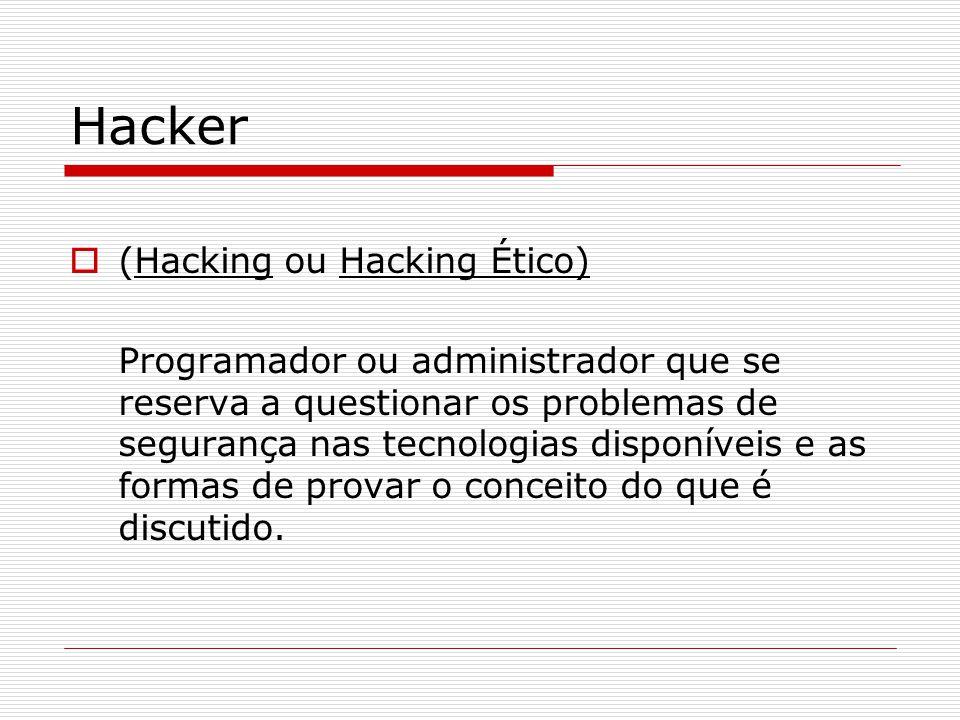 Hacker (Hacking ou Hacking Ético)