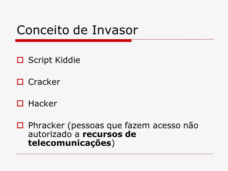 Conceito de Invasor Script Kiddie Cracker Hacker
