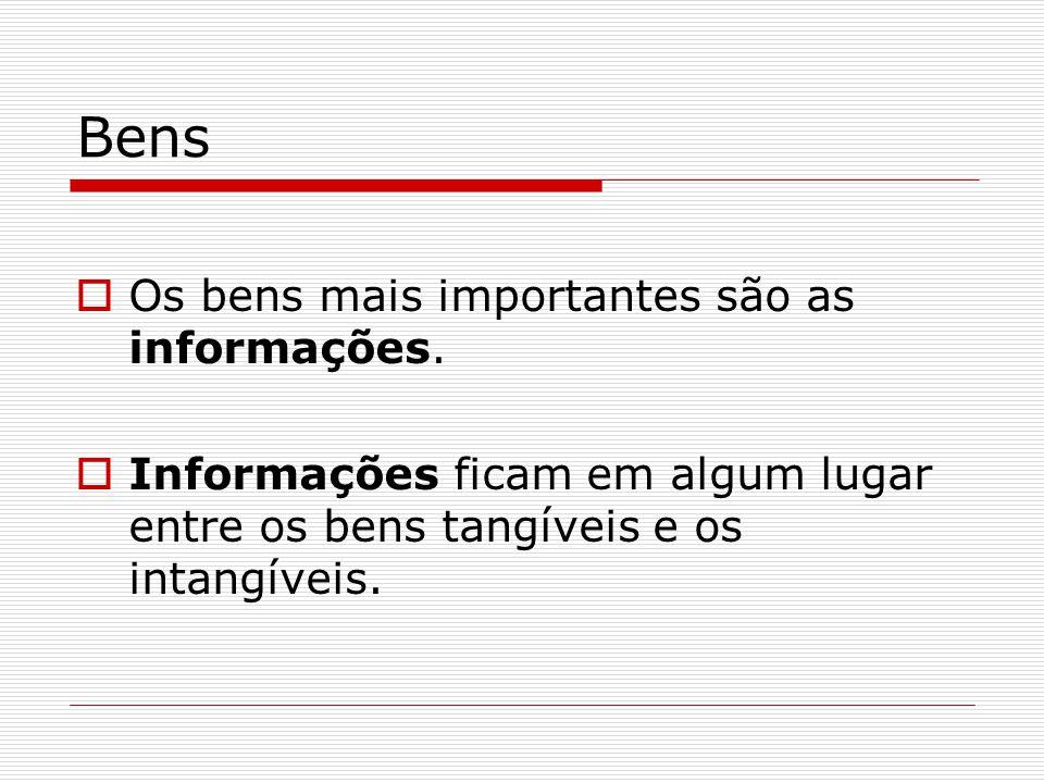 Bens Os bens mais importantes são as informações.