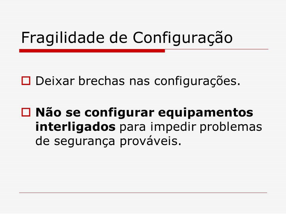 Fragilidade de Configuração